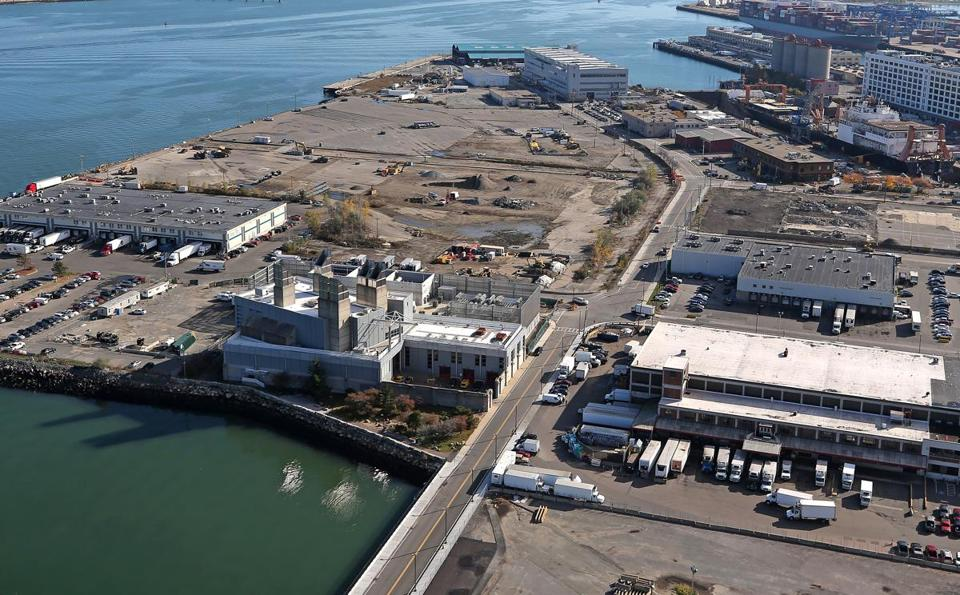 Pilot Development Partners won the rights about a year ago to 6.3 acres of a Massport-controlled waterfront property. It's planning to build a big new seafood processing plant in the middle of an empty stretch (above) of the marine industrial park in South Boston. Much of the seafood going through the Port of Boston these days comes from afar.